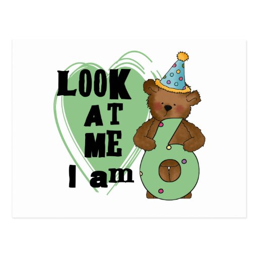 Teddy Bear I'm 6 Birthday T-shirts and Gifts Postcards