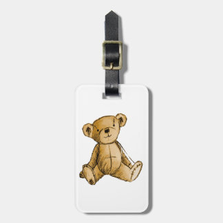 Teddy Bear image for Luggage-Tag-leather-strap Tag For Luggage