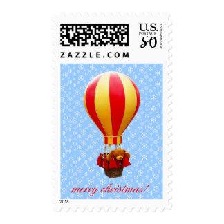 teddy bear in a balloon postage
