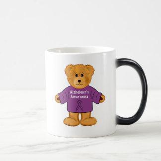 Teddy Bear in Alzheimer's Awareness Sweater Magic Mug