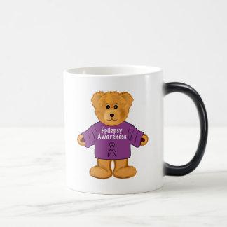 Teddy Bear in an Epilepsy Awareness Sweater Magic Mug