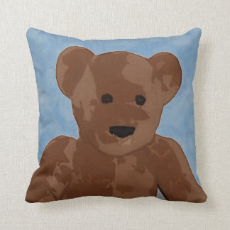 Teddy Bear in Blue Pillow