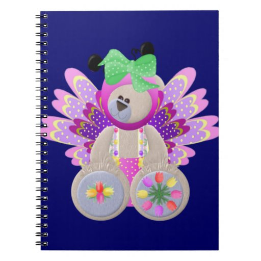 Teddy Bear in Costume Spiral Notebooks