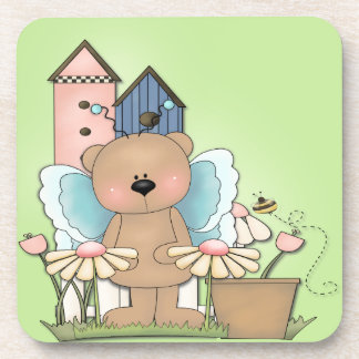 Teddy Bear in Garden Coaster