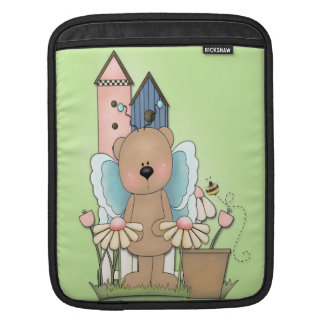 Teddy Bear in Garden iPad Sleeve