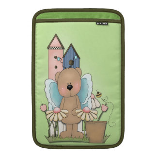 Teddy Bear in Garden MacBook Air Sleeve