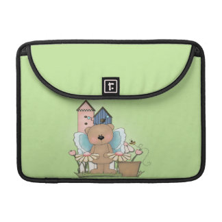 Teddy Bear in Garden MacBook Pro Sleeve