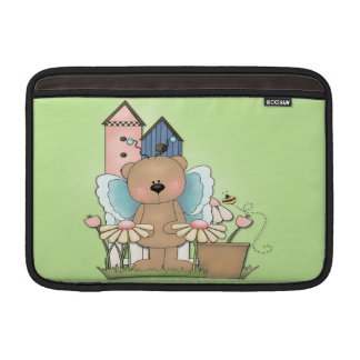 Teddy Bear in Garden MacBook Sleeve