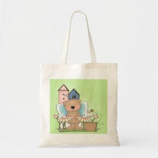 Teddy Bear in Garden Tote Bag