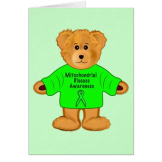 Teddy Bear in Mito Awareness Sweater Card