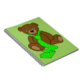 Teddy Bear in Neck Tie Notebook