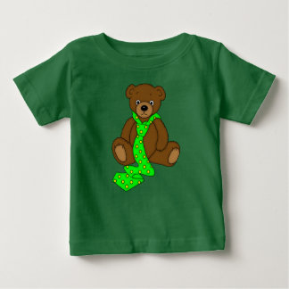 Teddy Bear in Neck Tie Print Baby T-Shirt