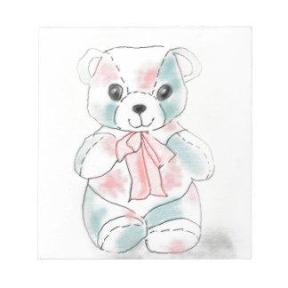 TEDDY BEAR IN PASTELS NOTEPAD