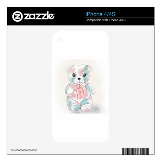 TEDDY BEAR IN PASTELS SKIN FOR iPhone 4