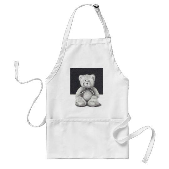 Teddy Bear in Pencil Adult Apron