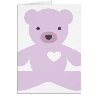 Teddy Bear in Purple Card