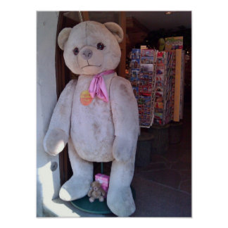 Teddy Bear in Rothenburg, Germany Posters
