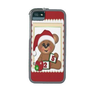 Teddy Bear in Santa Hat iPhone 5/5S Cases
