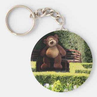 Teddy Bear in the Park Keychain