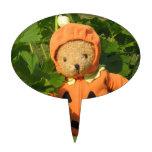 Teddy Bear in the Pumpkin Patch Cake Topper