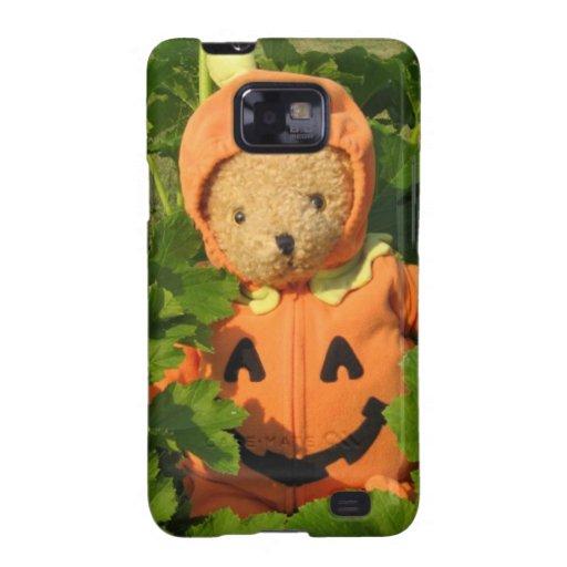 Teddy Bear in the Pumpkin Patch Samsung Galaxy S2 Case