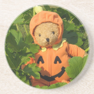 Teddy Bear in the Pumpkin Patch Coaster