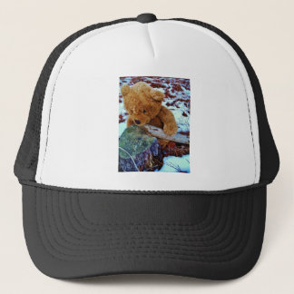 Teddy Bear in the Snow Trucker Hat