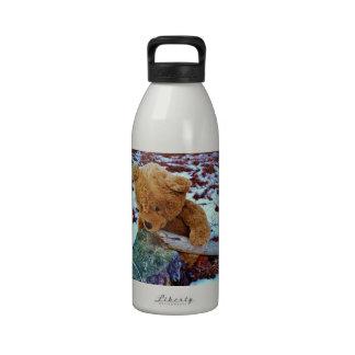Teddy Bear in the Snow Reusable Water Bottles