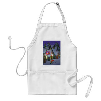 Teddy Bear in Town Adult Apron