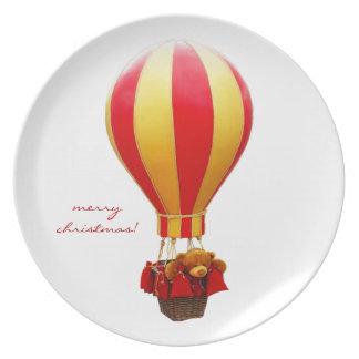 teddy bear inside ballon plate