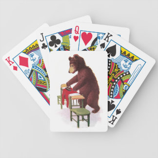 Teddy Bear Ironing Clothes Bicycle Playing Cards