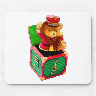 Teddy Bear JAck in the Box Mouse Pad