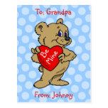Teddy Bear Kids Valentine Postcard