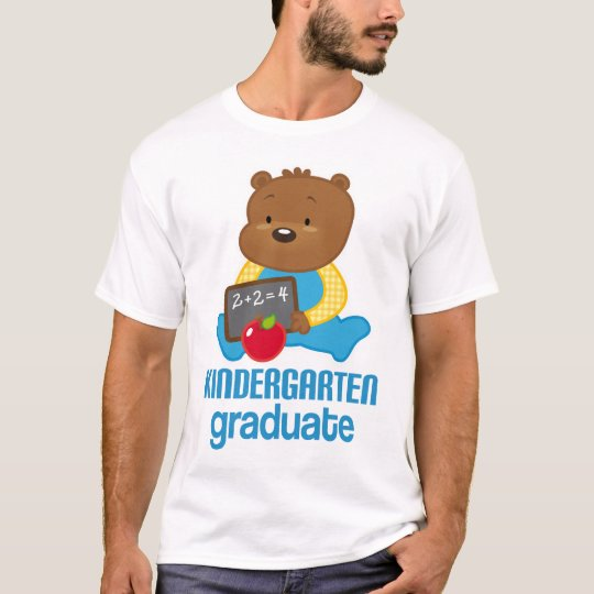 Teddy Bear Kindergarten Graduation Gift Tee