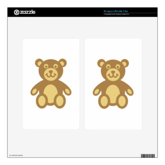 Teddy bear kindle fire decal
