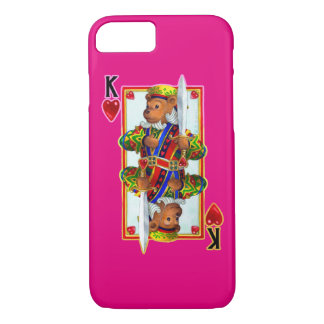 Teddy Bear King of Hearts iPhone 7 Case
