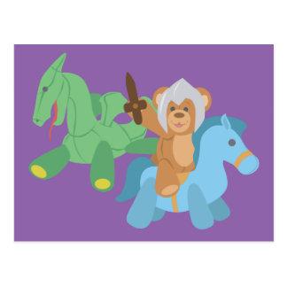 Teddy Bear Knight Postcard
