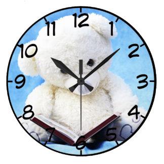 teddy bear large clock