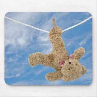 teddy bear laundry mouse pad