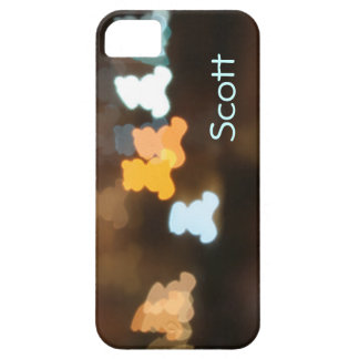 Teddy bear lens bokeh city lights customized name iPhone 5 covers