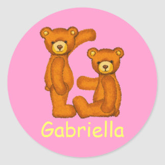 Teddy Bear Letter Alphabet~Initial G~Name Stickers