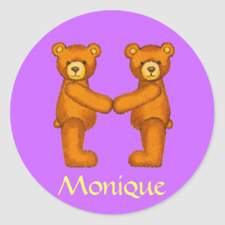 Teddy Bear Letter Alphabet~Initial M~Name Stickers