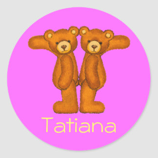 Teddy Bear Letter Alphabet~Initial T~Name Stickers