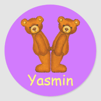 Teddy Bear Letter Alphabet~Initial Y~Name Stickers