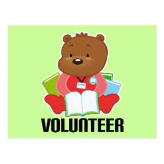 Teddy Bear Library Volunteer Gift Post Cards