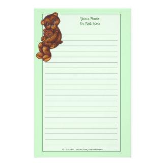Teddy Bear Lined Stationery
