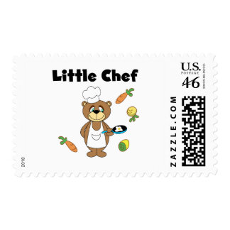 Teddy Bear Little Chef Tshirts and Gifts Postage Stamp