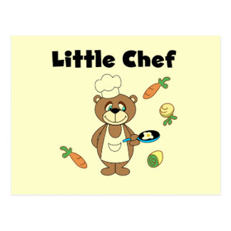 Teddy Bear Little Chef Tshirts and Gifts Postcard