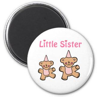 teddy bear little sister 2 inch round magnet