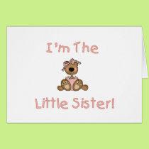 Teddy Bear Little Sister Card